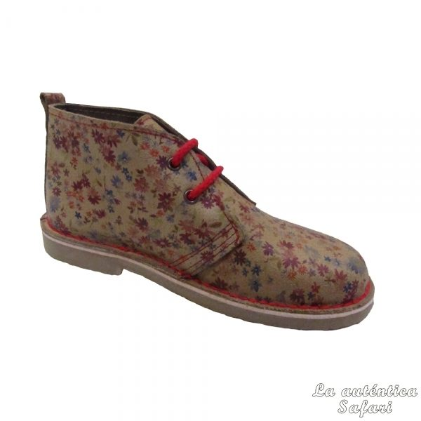 La Autentica Safari Bota Safari Estampado Floral Rojo